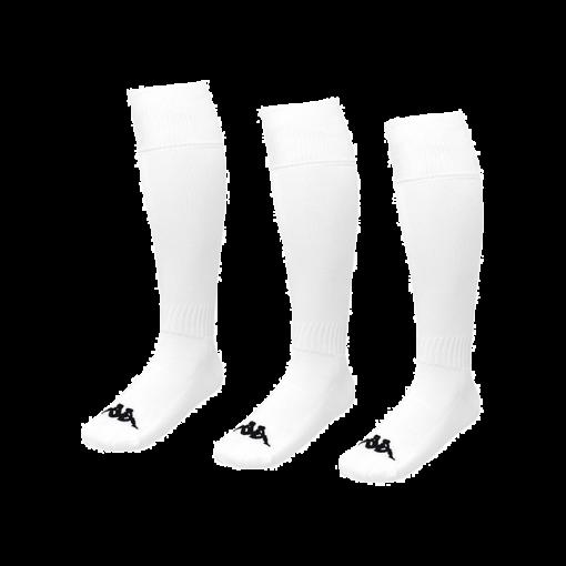 CHAUSSETTE KAPPA BLANCHE FOOT FUTSAL RUGBY