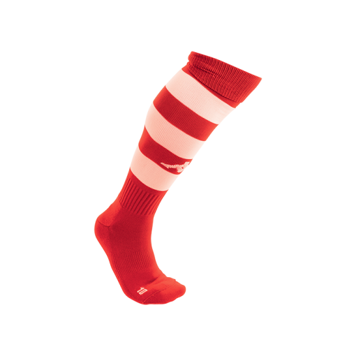 CHAUSSETTES KAPPA ROUGE BLANC HAUTE FUTSAL RUGBY FOOT