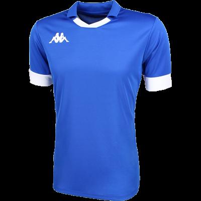 Maillot bleu kappa, avec col, futsal, foot, volley, cricket