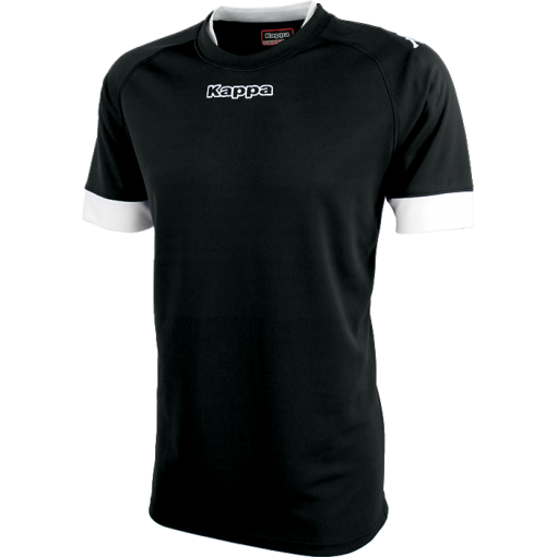 MAILLOT KAPPA RUGBY NOIR BLANC