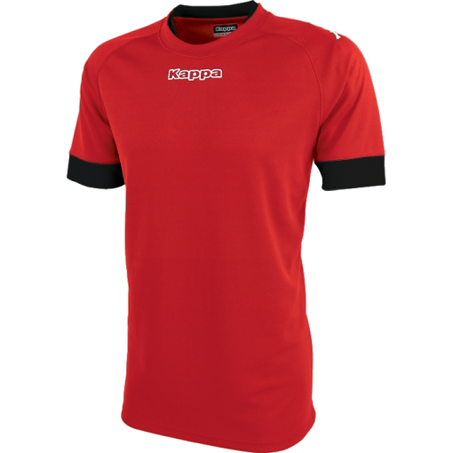 MAILLOT RUGBY KAPPA ROUGE NOIR