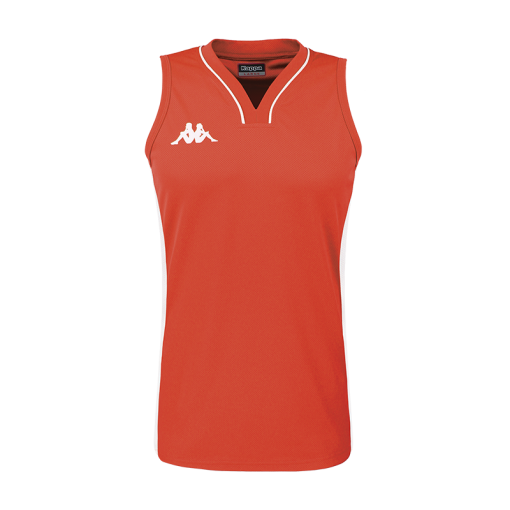 Maillot rouge basket femme kappa caira