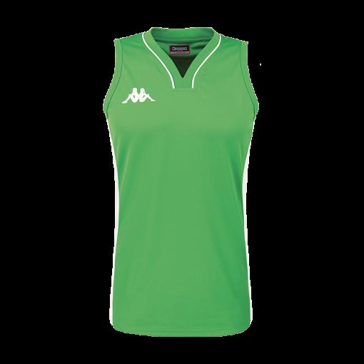 Maillot basket femme kappa vert caira