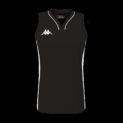 maillot noir sans manche femme basket kappa