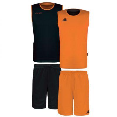 Tenue basket orange noir kappa reversible cairosi