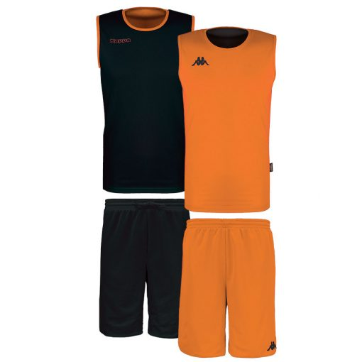 Tenue basket orange noir kappa reversible cairosi