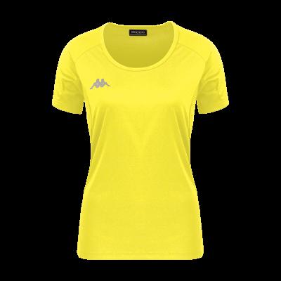 t-shirt femme fania tennis running bleu azur kappa squash bad