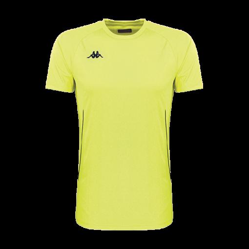 Tshirts fanio jaune fluo running tennis