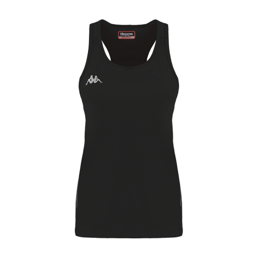 Débardeur tennis running squash bad noir kappa fanti
