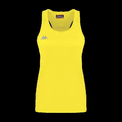 debardeur fanti jaune fluo tennis running squash kappa