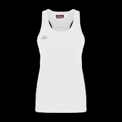 debardeur blanc tennis kappa fanti running squash