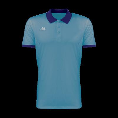 Polo bleu azur faedis kappa tennis