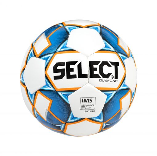 BALLON FOOTBALL DIAMOND BLANC BLEU SELECT