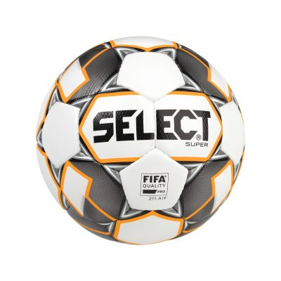 Ballon football Super Gris Blanc SELECT