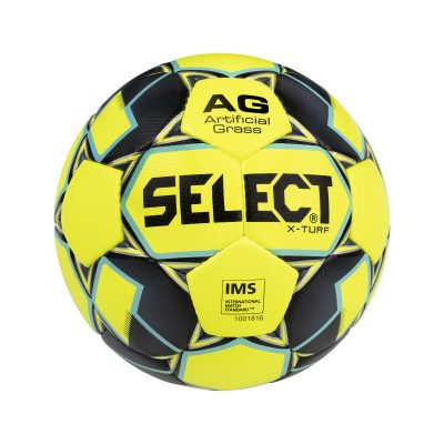 Ballon football xturf jaune noir SELECT