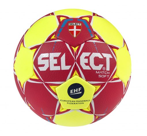 Ballon hand rouge jaune match soft select