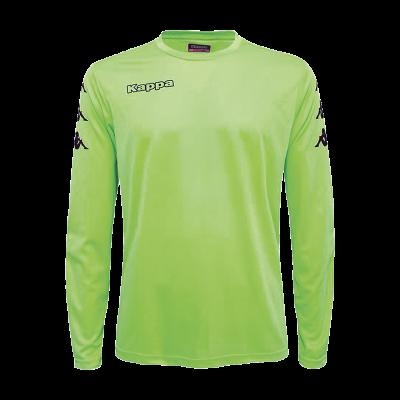maillot de gardien vert fluo foot kappa