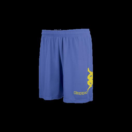 Short Talbino kappa foot futsal volley hand cricket bleu nautique jaune