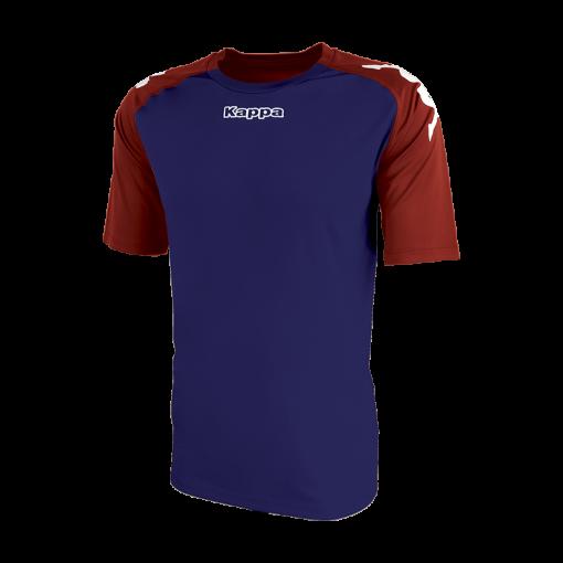 maillot hand foot futsal volley cricket bleu marine rouge kappa paderno