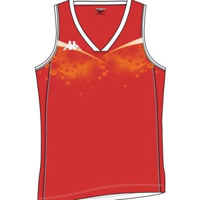 maillot basket femme sans manche kappa personnalisable