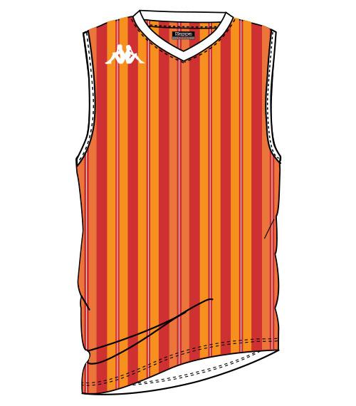 maillot sans manche sublimé kappa pour le basket