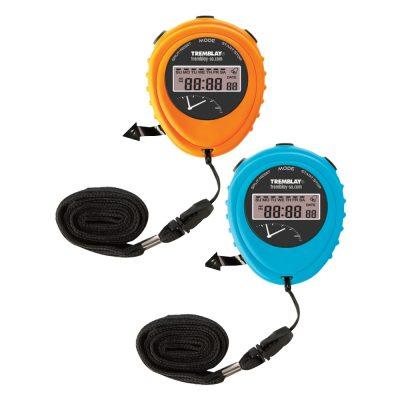 Chronomètre simple bleu ou orange