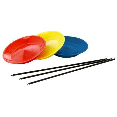 Assiette de jonglerie jaune bleu rouge