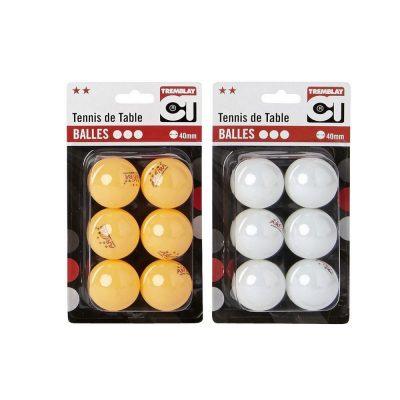 Balles de Ping Pong 2 étoiles blanc ou orange