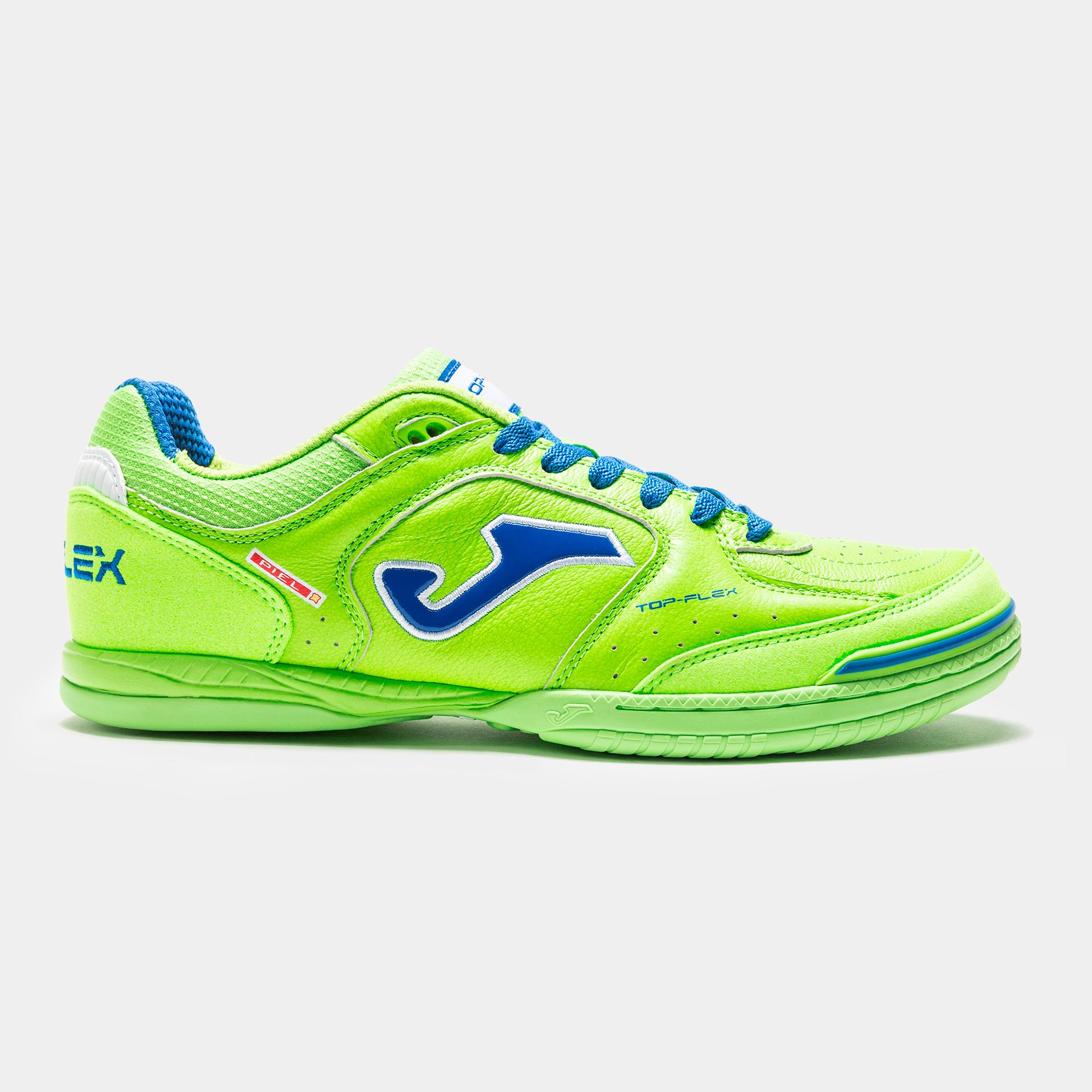 Blanc-Vert Joma Top Flex Chaussure de Futsal