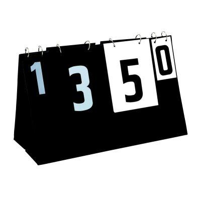 table de score avec chiffres de 0 à 30 et 0 à 5