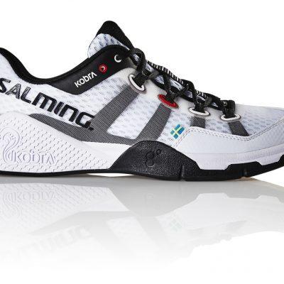 Chaussures Salming blanche noir squash hand badminton