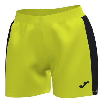 Short femme jaune fluo joma futsal foot hand volley