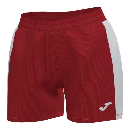 Short femme rouge Maxi Joma hand volley foot futsal