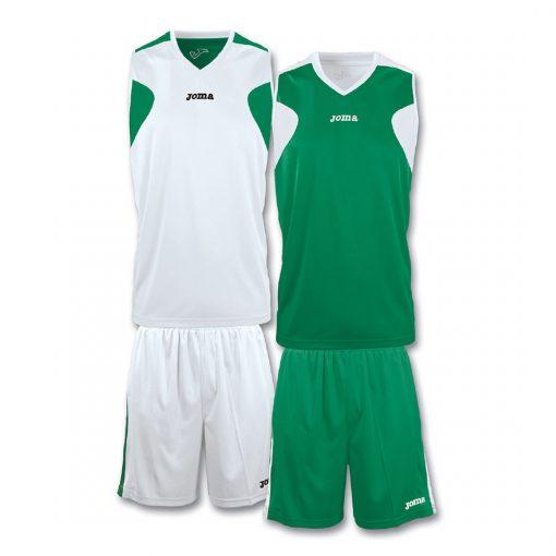 Tenue Joma Reversible Vert Blanc Basket