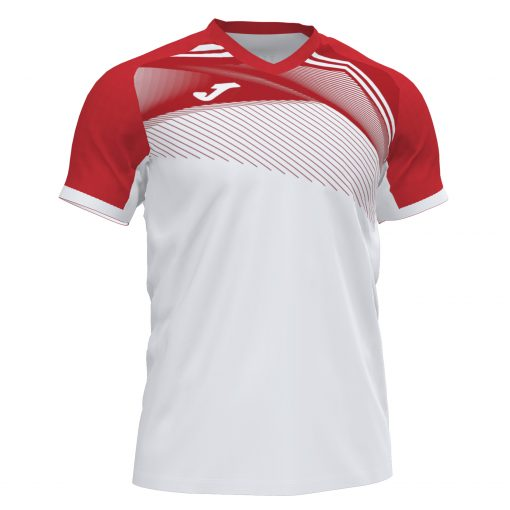 Maillot Blanc Rouge Joma futsal foot volley hand