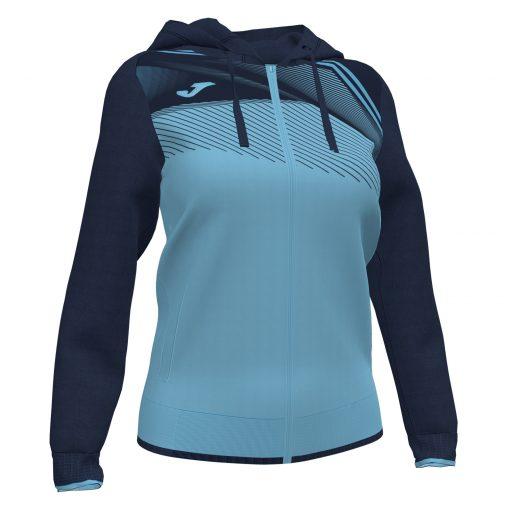 Sweat veste supernova II bleu turquoise foot futsal femme volley hand Joma