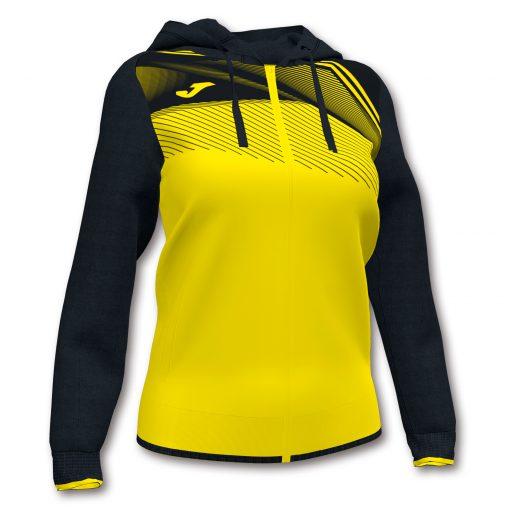 veste femme sweat jaune noir Joma Hand volley foot futsal
