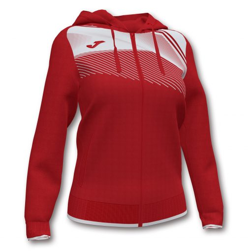 Sweat veste blanc rouge Joma foot hand futsal volley