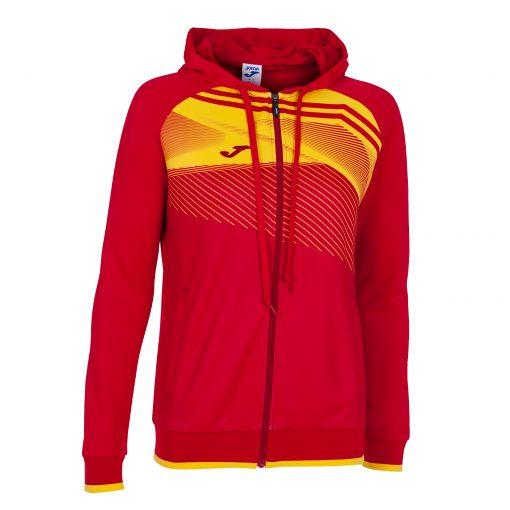 Sweat veste rouge jaune Joma supernova foot futsal hand volley