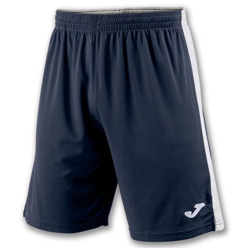 Short bleu marine blanc, Joma, foot, futsal, hand, cricket, volley, Tokio 2