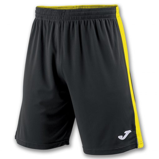 Short noir jaune Joma, futsal, foot, hand, volley, cricket, Tokio II