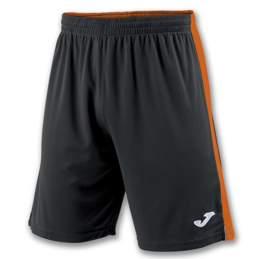 Short noir orange Joma, foot, futsal, hand, volley, cricket, tokio II