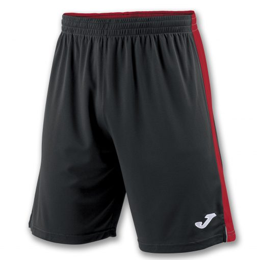 Short noir rouge joma, Tokio II, hand, foot, futsal, volley, cricket