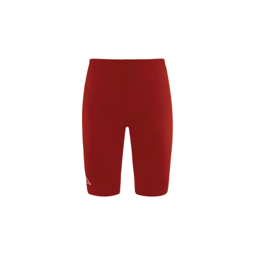 Sous short rouge kappa, seconde peau, foot, rugby, volley, hand, futsal