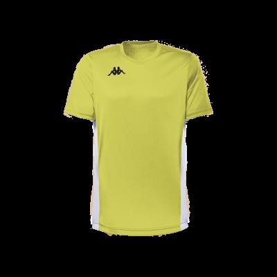 Maillot foot jaune fluo, futsal, hand, volley, kappa, wenet