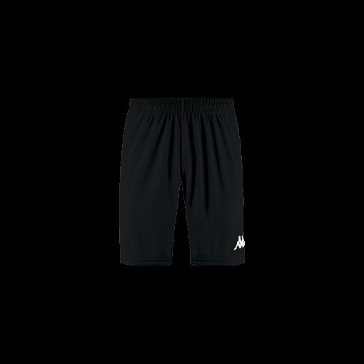 Short noir kappa, hand, volley, foot, futsal, wusis