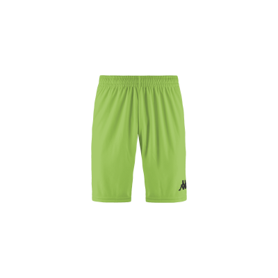 Short Jaune fluo kappa, futsal, hand, volley, foot, wusis