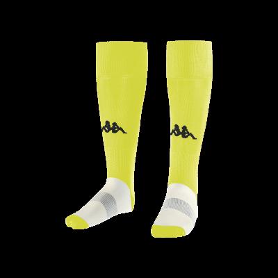 Chaussettes jaunes fluo, kappa, wulgar, foot, futsal, rugby