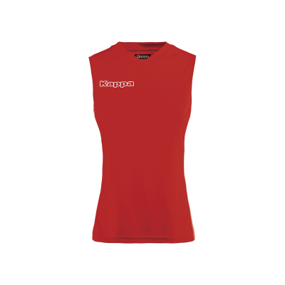 maillot rouge sans manche femme, kappa, volley, beach volley