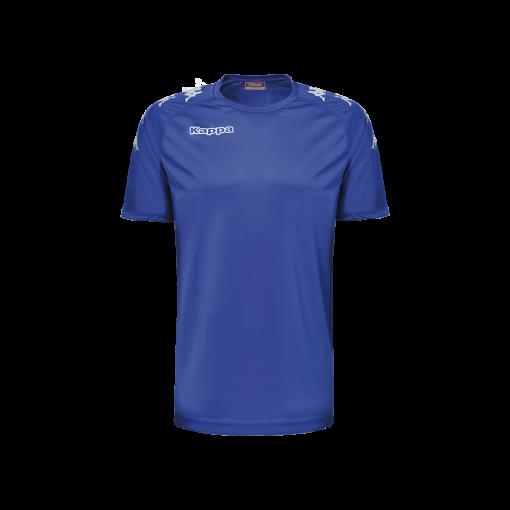 Maillot bleu castolo kappa, hand, foot, futsal, volley